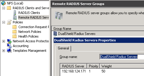 NPS as RADIUS Proxy