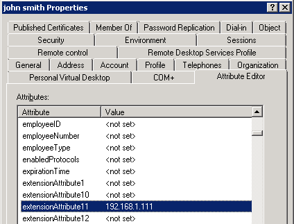 How to configure static IP address assignment